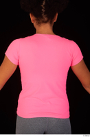 Zahara dressed pink t shirt sports upper body 0006.jpg